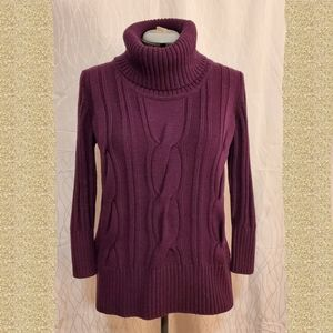 Calvin Klein Turtleneck Cable Knit Sweater